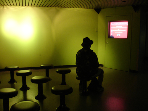 Man in Green Room at Biodome Montreal
