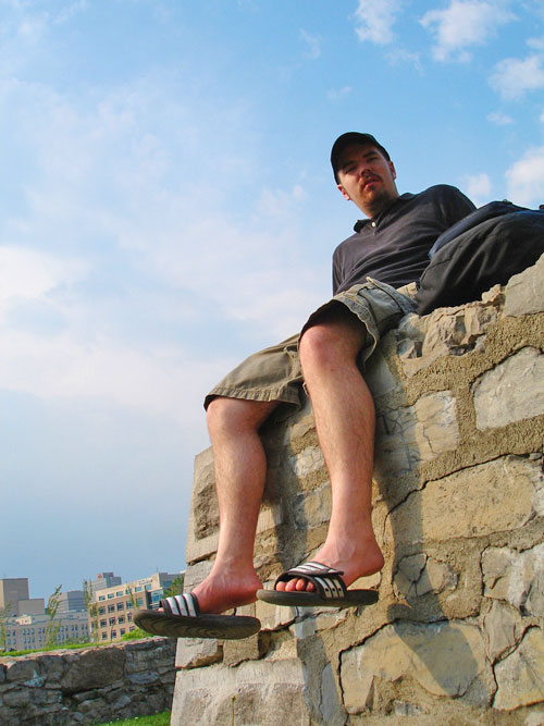 Me on Wall - Place Jacques Cartier, Montreal