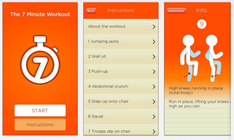 7 Minute Workout App (screenshot)