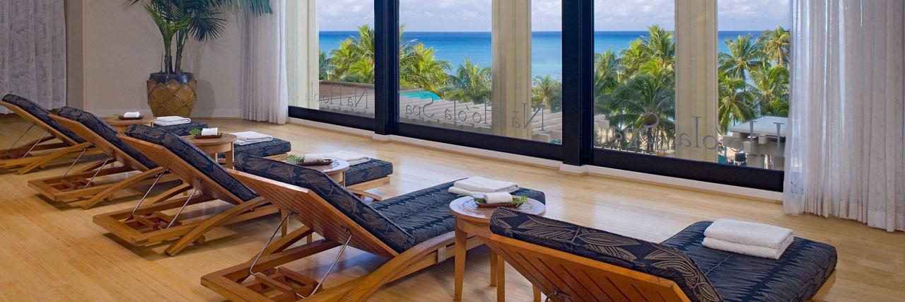 Spa Relaxation Room at Hyatt Regency, Waikiki Beach, Oahu