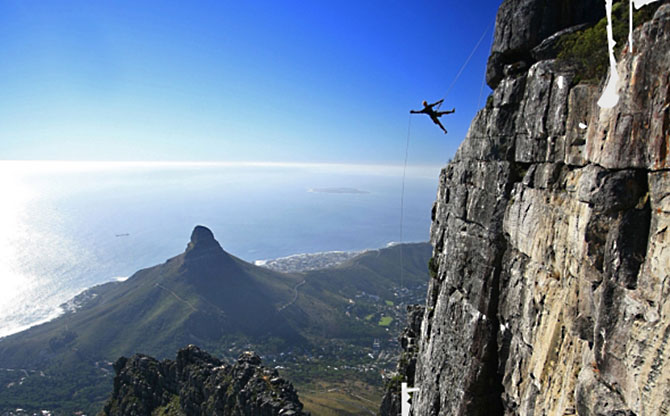 Abseil Table Mountain, Cape Town, South Africa