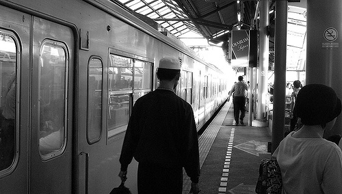 Alone in the Train Station, Indonesia
