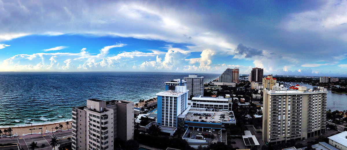 Balcony View from W Hotel Fort Lauderdale, Florida