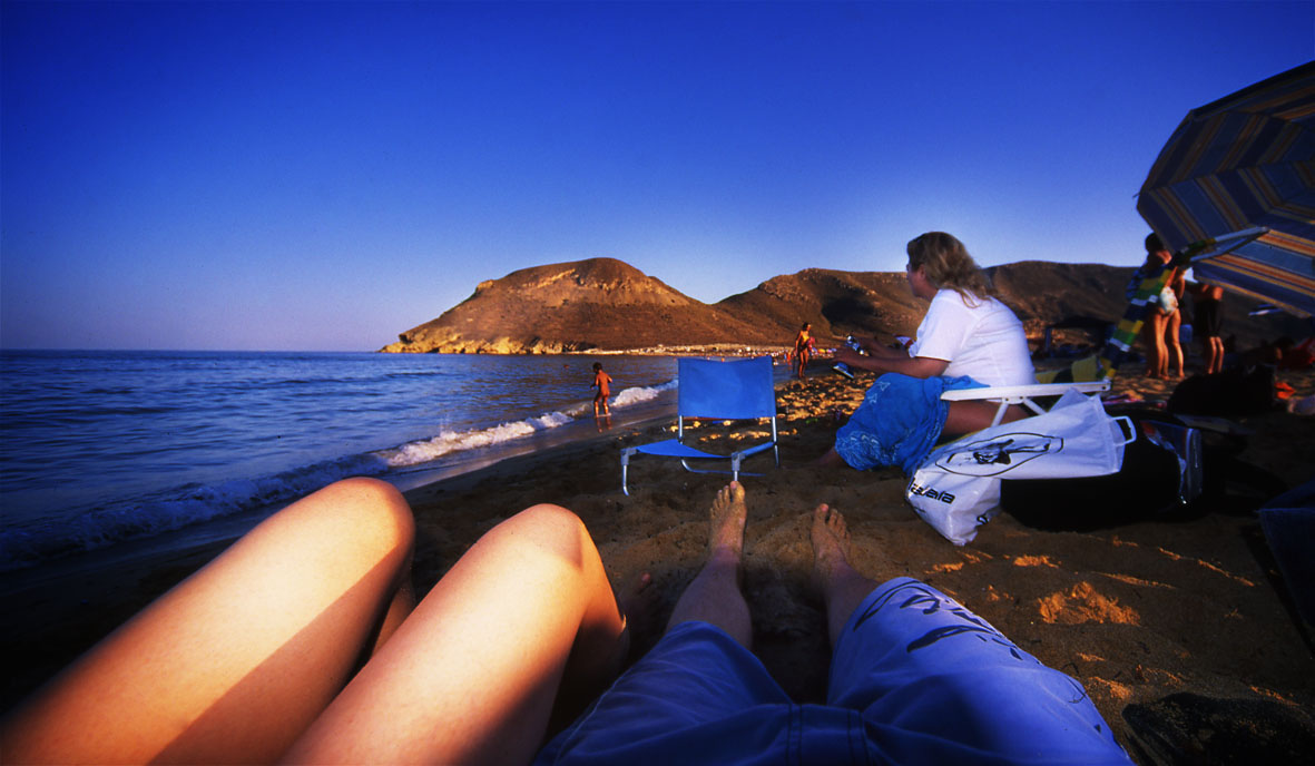 Relaxing on the Beach, Spain