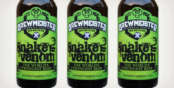 World's Strongest Beer: Brewmeister Snake Venom (Scotland)