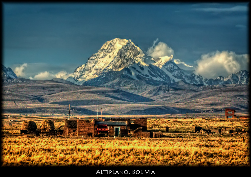 Bus Stop at the Bolivian Altiplano