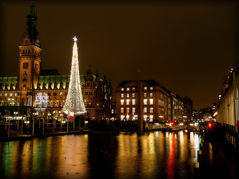 Christmas on the Waterfront in Hamburg, Germany