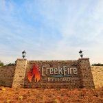Entry sign at CreekFire Motor Ranch in Savannah, GA