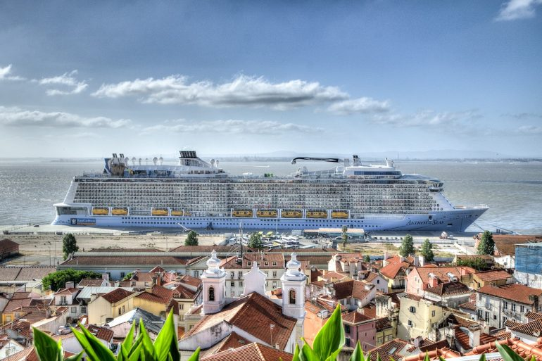 Cruise Ship in Lisbon, Portugal