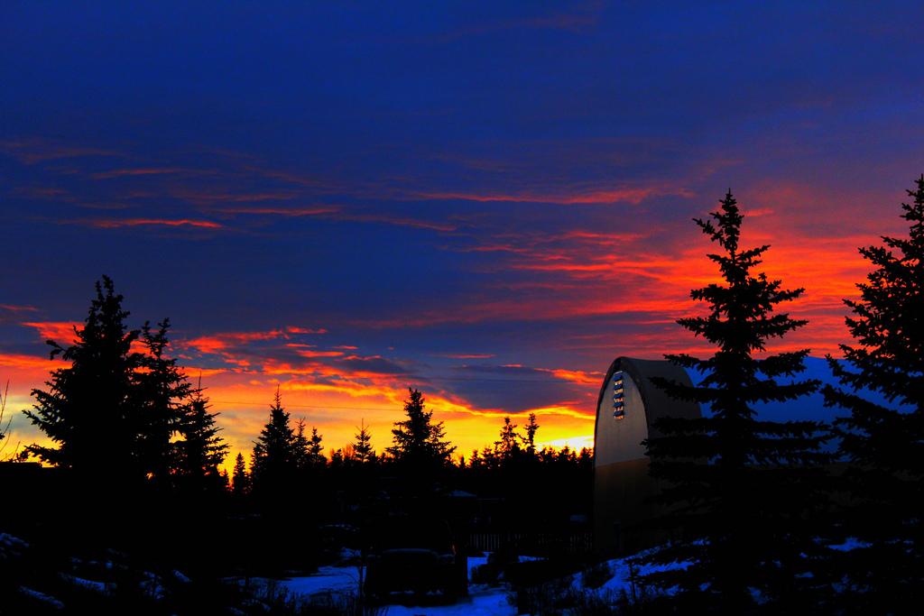 Sunrise over Bluebird Estates, Alberta, Canada