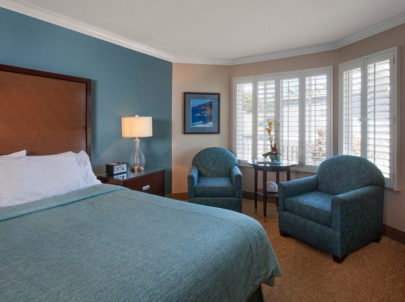 Deluxe King Guest Room at Blue Dolphin Inn in Cambria, California