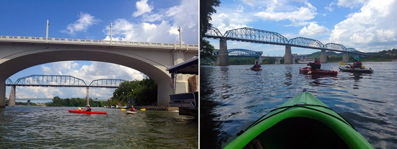 Downtown Kayaking on the Tennessee River with Outdoor Chattanooga