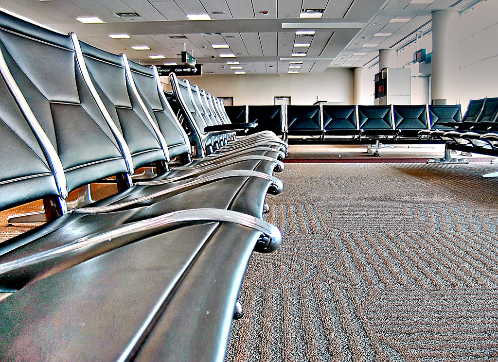 Seats at an Empty Airport