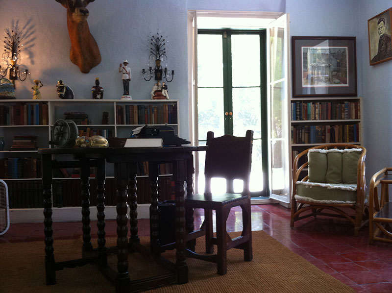 Writing desk in Ernest Hemingway's studio loft