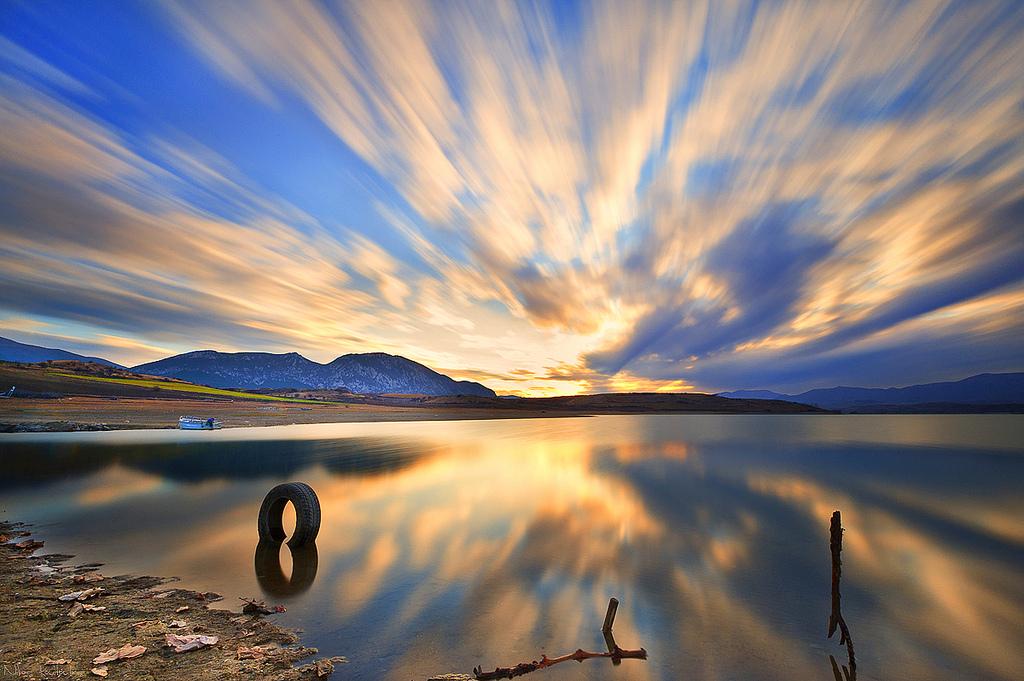Exploding Sky Over Polifitos Lake, Greece
