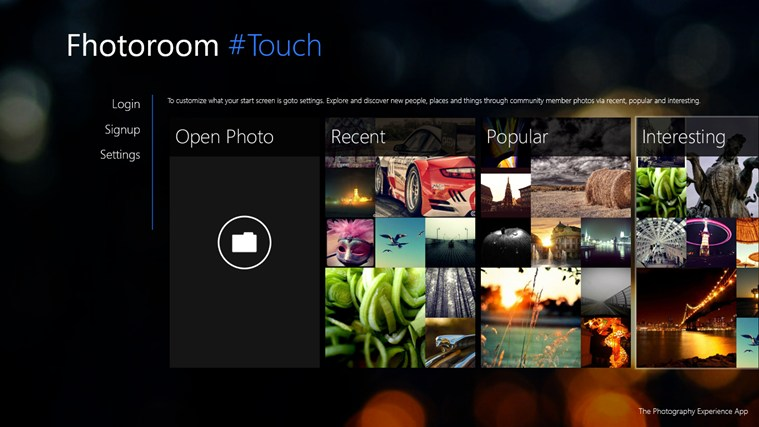 Fhotoroom Windows 8 App (screenshot)