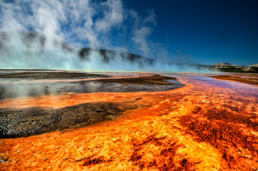 Fire River in Yellowstone National Park