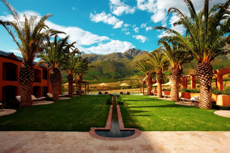 Garden/Pool at La Residence, Franschhoek, South Africa