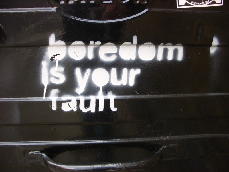 Graffiti: Boredom is YOUR Fault (London)