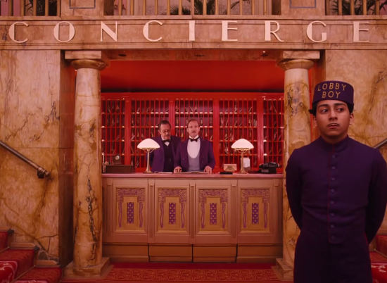 Concierge Desk from Grand Budapest Hotel