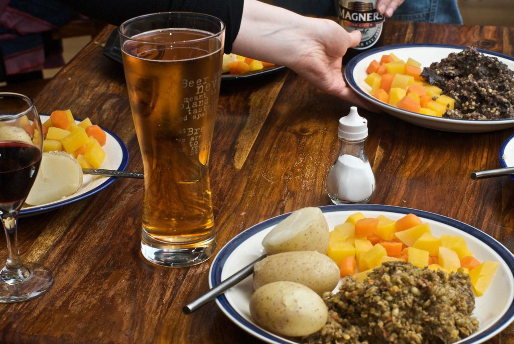 Haggis Dinner in Glasgow, Scotland