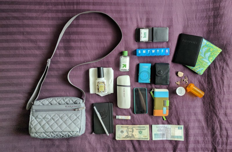 Contents of the Hedgren Carina Travel Purse