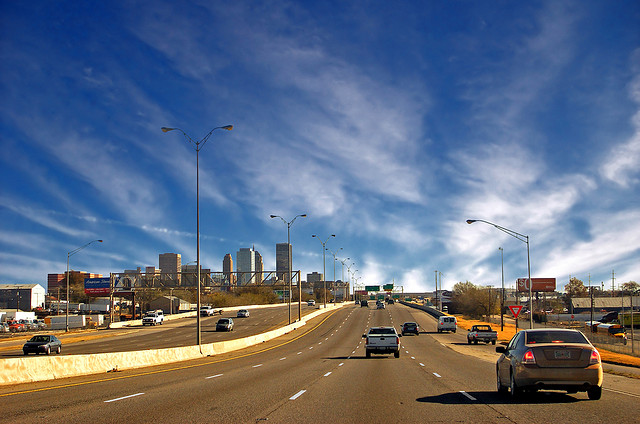 Skyline of Oklahoma City, Viewed from Highway