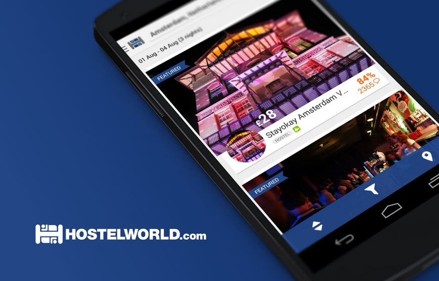 Hostelworld Mobile Travel App (Android)