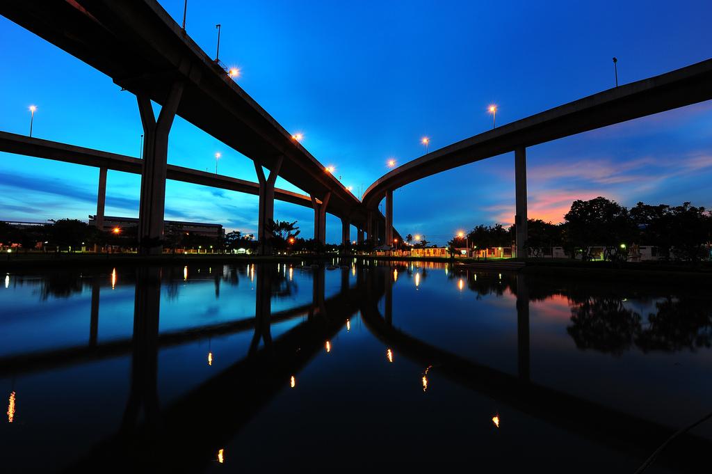 Industrial Ring Road at Sunset, Bangkok