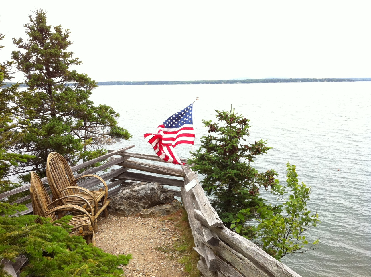 Overlooking Frenchman's Bay at Inn at Bay Ledge in Bar Harbor, Maine