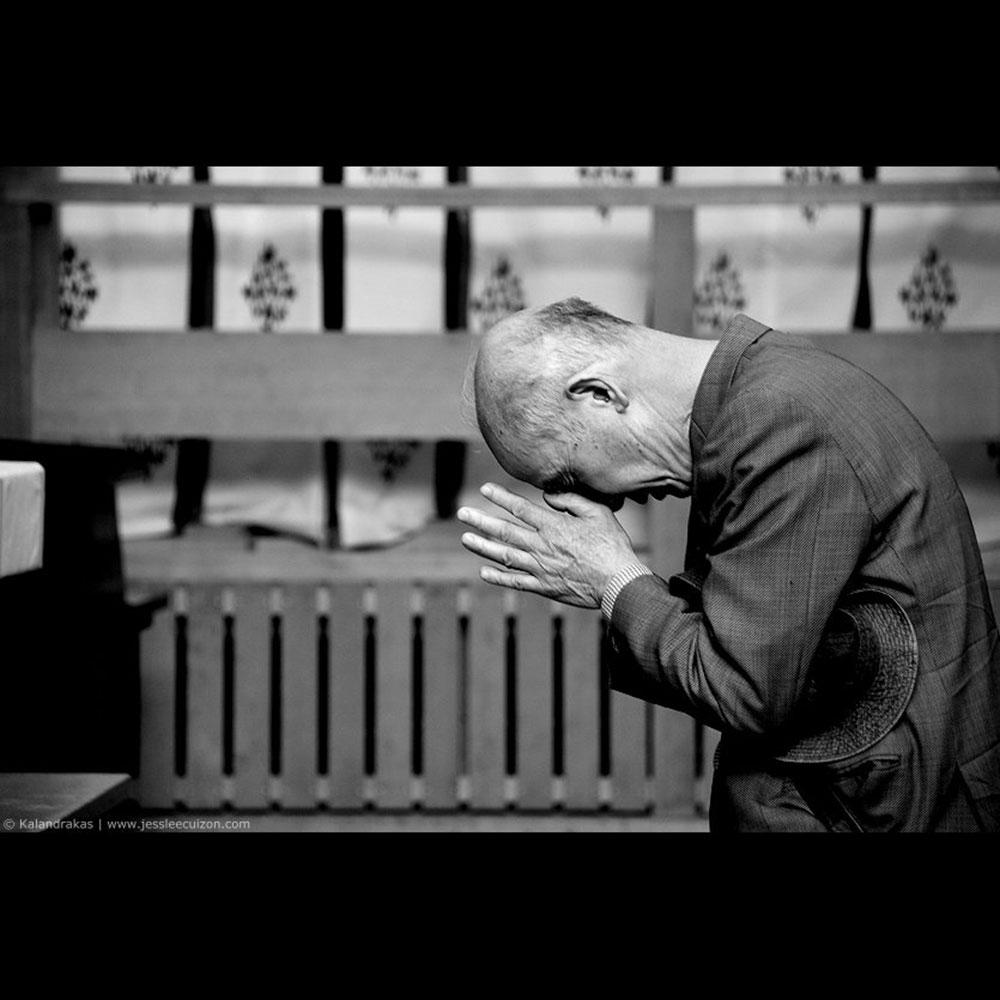 Japanese Man Praying
