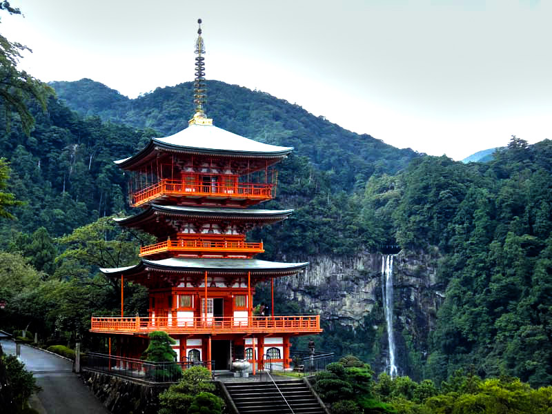 Nachi Taisha Waterfall Along Japan's Kumano Kodo Pilgrimage