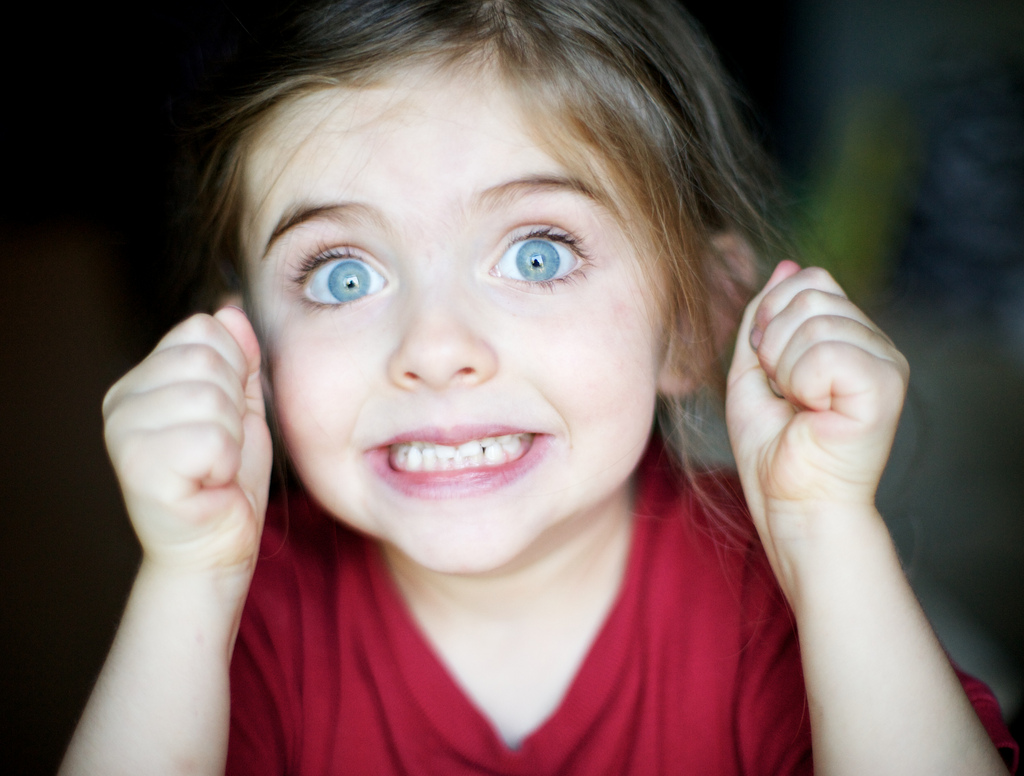 Excited Young Girl