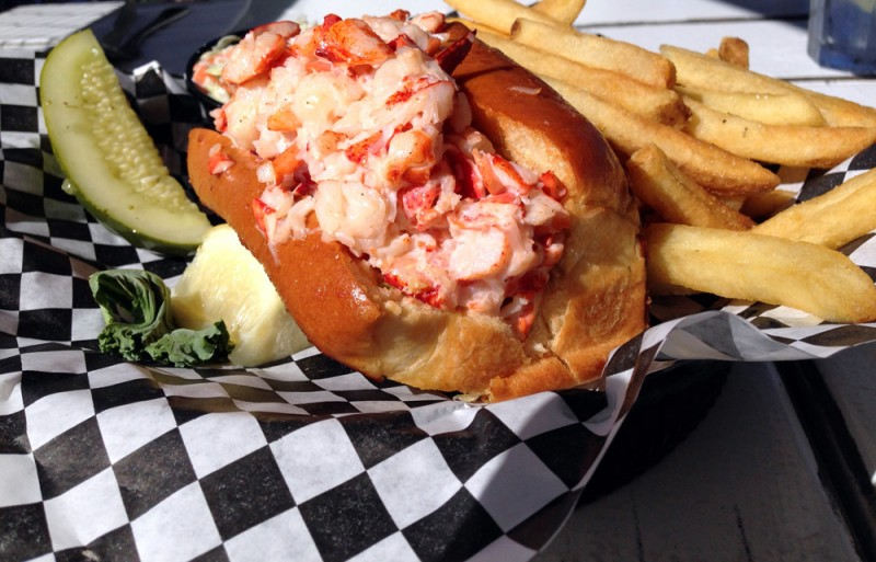 Lobster Roll at Stewman's Lobster Pound in Bar Harbor, Maine