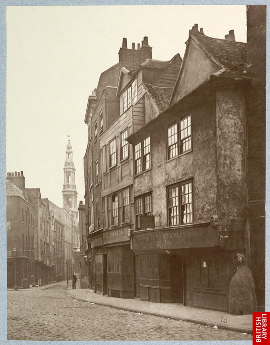 Archival photo of London from late nineteenth century