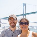 Mike and Kelsey in Front of the Newport Bridge