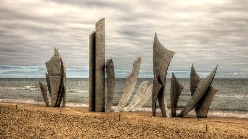 Monument at Omaha Beach, France
