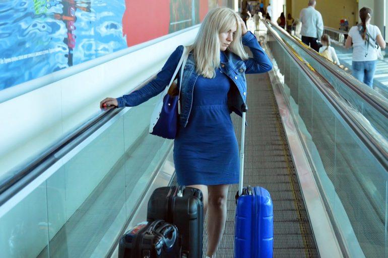 Nervous Female Traveler