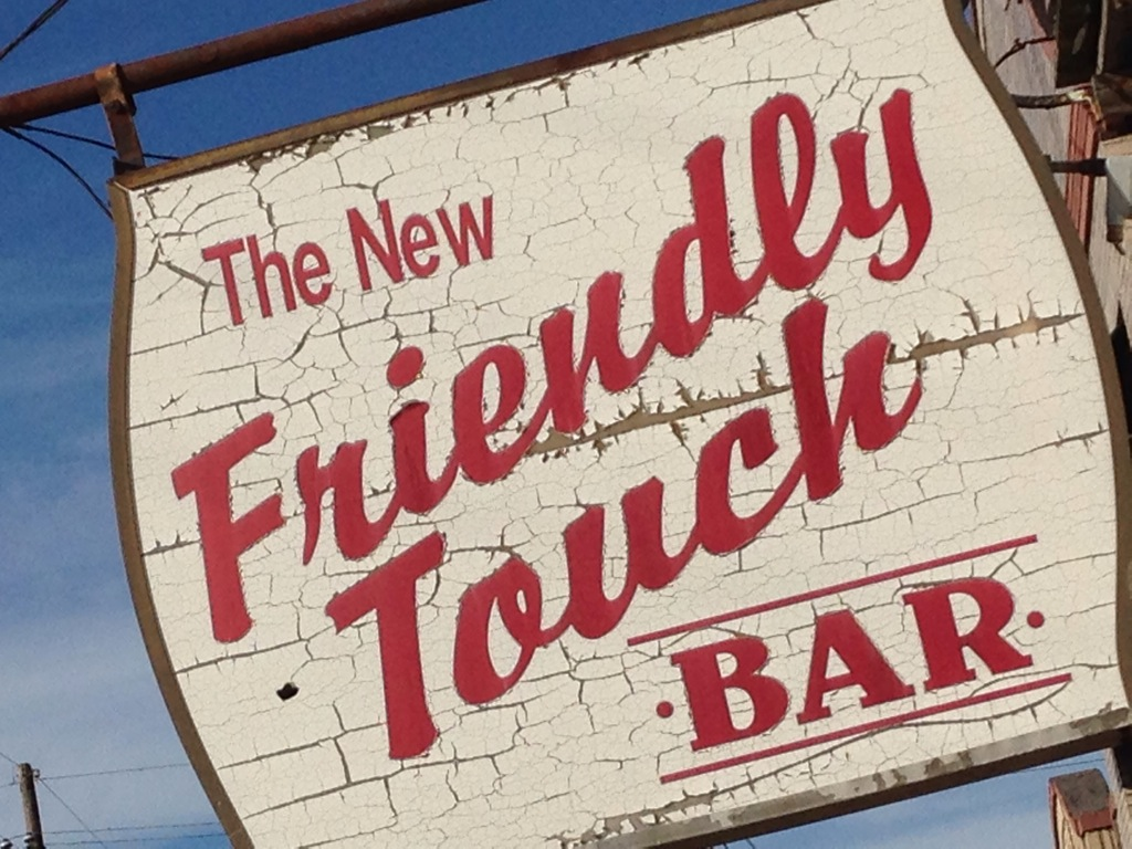 Sign: The New Friendly Touch Bar (New Orleans, Louisiana)