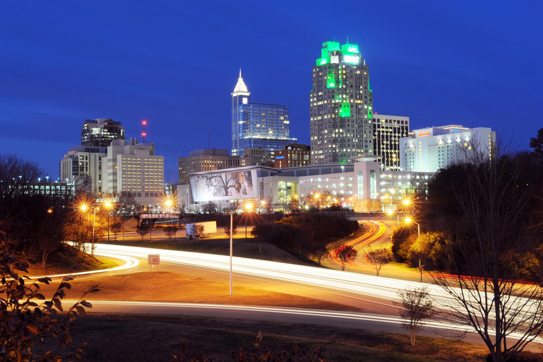 Night in Downtown Raleigh, North Carolina