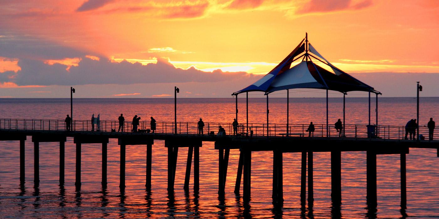 Noarlungha Pier in Adelaide, Australia