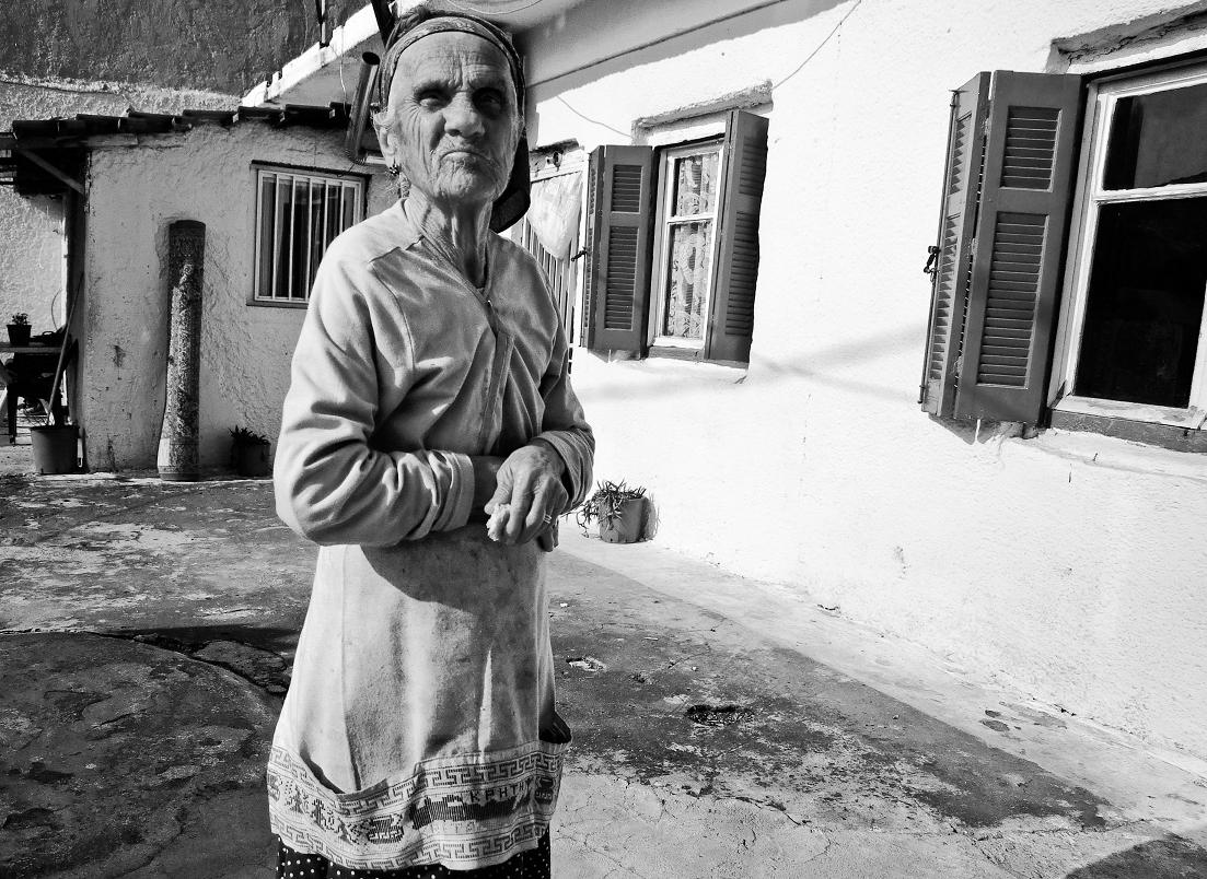 Old woman in Larissa, Greece