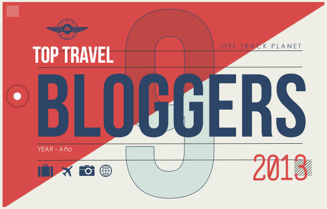 """Off Track Planet """"9 Favorite Travel Bloggers of 2013"""" (header graphic)"""