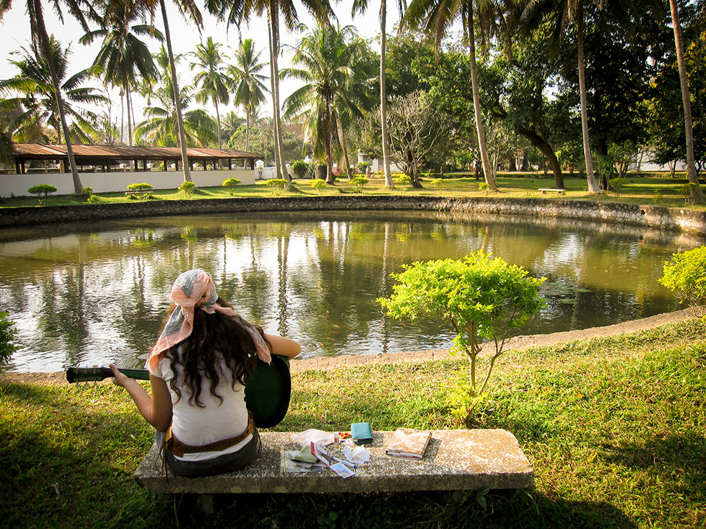 Enjoying the Park in Luang Prabang, Laos