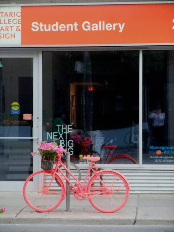 Abandoned bicycle in Toronto turned into art