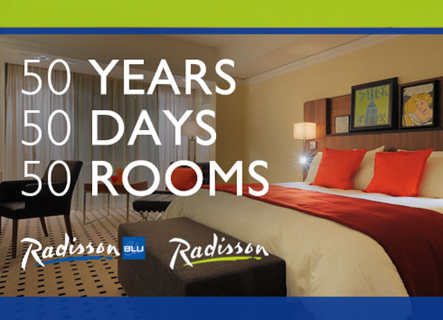 "Radisson ""50 Years, 50 Days, 50 Rooms"" Hotel Giveaway"