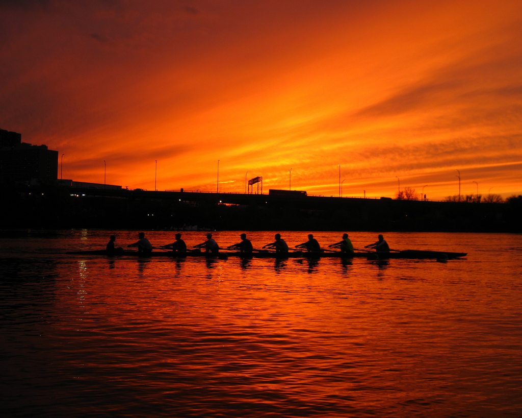 Rowers of the Charles Regatta, Cambridge, Massachusetts
