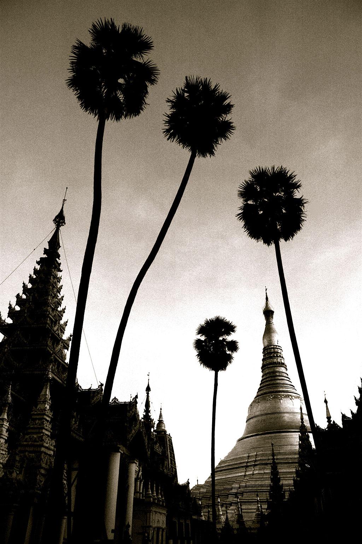 Shwedagon (Golden) Pagoda in Yangon, Burma