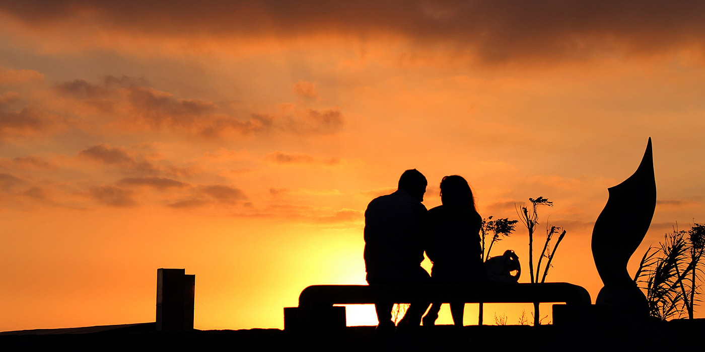 Silhouette of Lovers in Lebanon