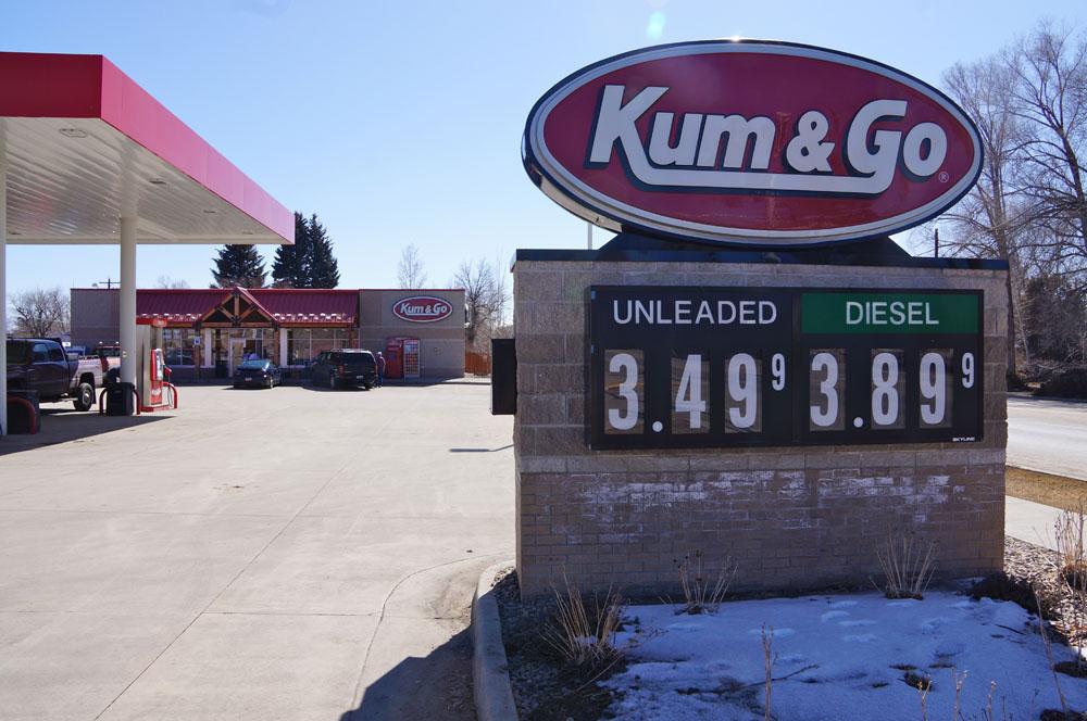 Kum & Go Filling Station, Northwest Wyoming
